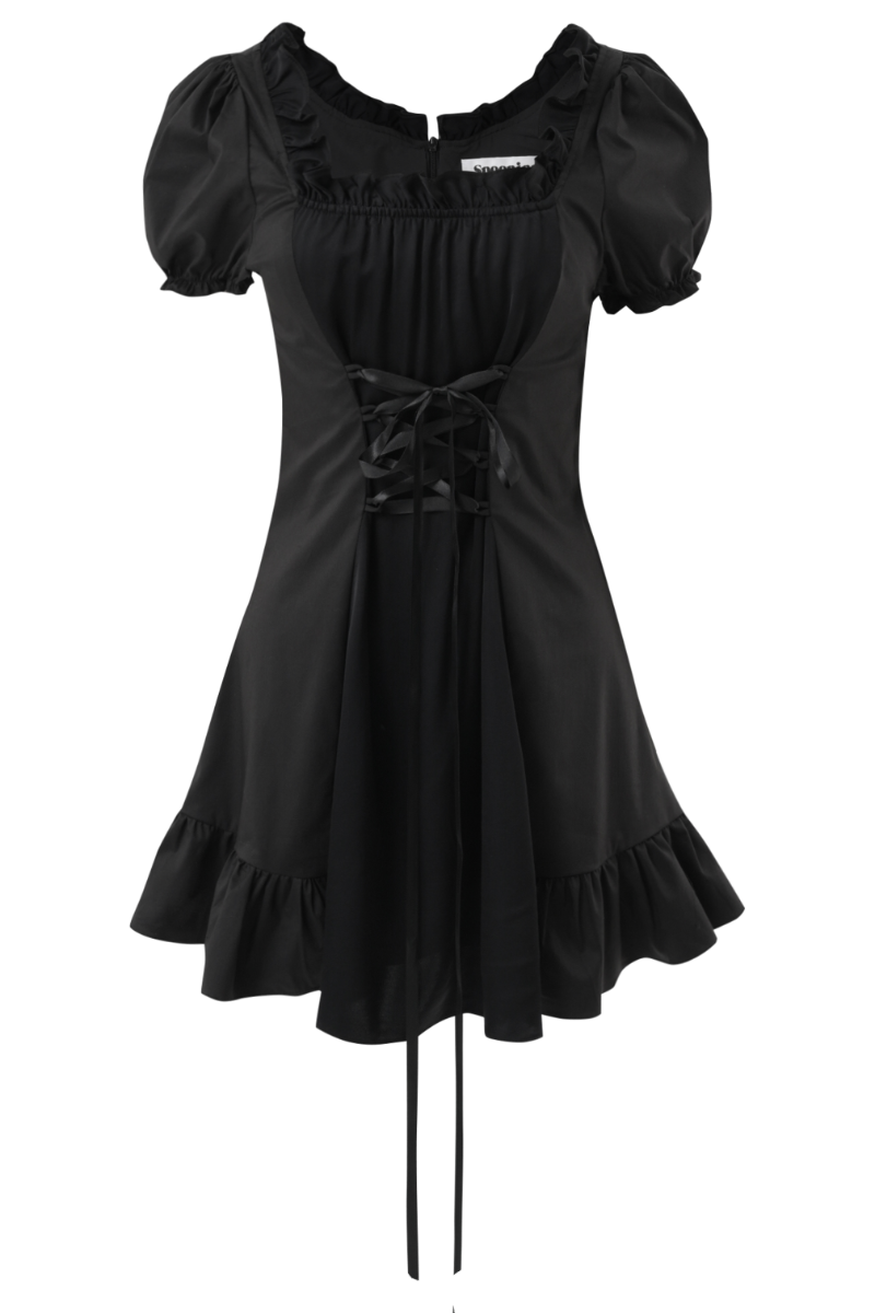 SPOONING ⌇ LAST DANCE DRESS (black)